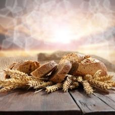 小麦上的面包