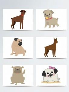 可爱的卡通狗表情素材