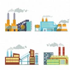 时尚扁平化工厂建筑图片