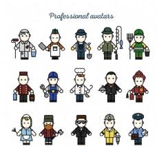 卡通职业人物矢量素材图片