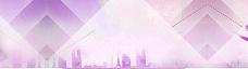 紫色科技背景海报