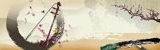 中国风乐器海报