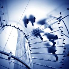 写字楼玻璃楼梯商务背景图片
