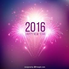 紫色新年焰火背景