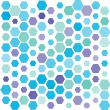 矢量彩色六边形无缝背景