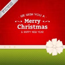 红色和绿色的圣诞背景