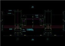 竖明横隐幕墙开启扇横剖节点图CAD图纸