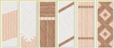 迪加瓷木纹砖创意铺贴展示