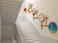 校园楼梯文件墙设计