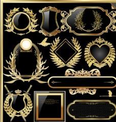 欧式古典标签边框素材图片