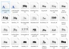 96种哥特式字体