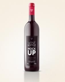 酒瓶标签设计效果VI贴图模板
