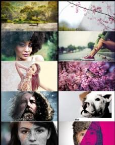 10款照片转布纹和老照片效果动作