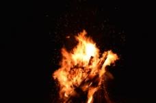熊熊燃烧的烈火