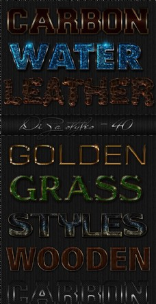 金属质感镂空字字体样式