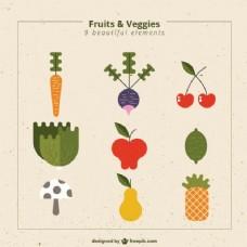 水果和蔬菜的收集