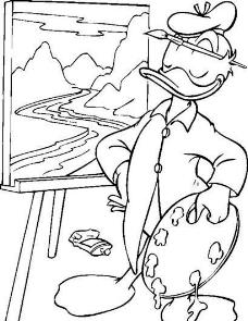 迪斯尼绘画人物 卡通人物 唐老鸭 矢量素材 ai格式_02