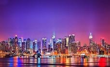 夜海城市city背景设计素材图片下载桌面壁纸