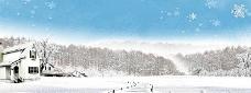 唯美雪景背景