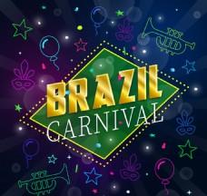 巴西狂欢节元素背景