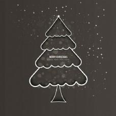 概述圣诞树背景