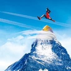 淘宝运动装冒险雪山背景