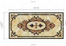 水刀地面瓷砖拼花雕刻2
