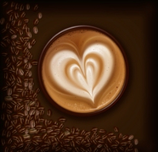 一杯爱心咖啡图片