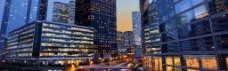 城市夜景淘宝海报背景素材
