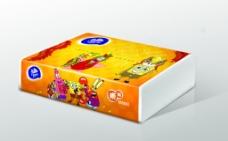 维达纸巾海绵宝宝外包装设计分层源文件