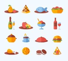 16款美味食物图标矢量素材