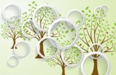 圆圈简约树图片