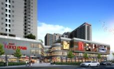 唐人街3D效果图图片