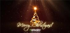 圣诞树创意动画AE模板