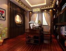 书柜设计,书房模型,桌椅组合(1)