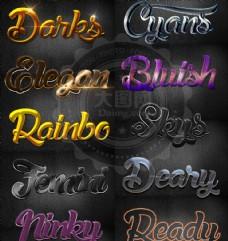 10款时尚质感艺术字设计PS样式