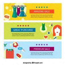 多彩的购物销售横幅