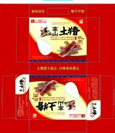 中国风食品土特产高山土猪肉 包装设计