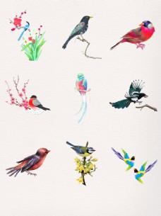 漂亮水墨中国风喜鹊