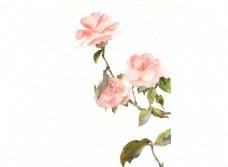 卡通粉色花朵png元素