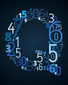 创意数字字母Q