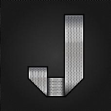 金属字母J
