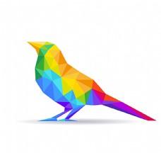 彩色几何鸟图片