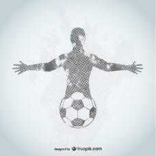 足球运动员垃圾设计