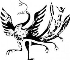 凤凰 凤纹图案 鸟类装饰图案 矢量素材 CDR格式_0075