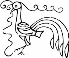 凤凰 凤纹图案 鸟类装饰图案 矢量素材 CDR格式_0008