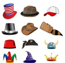 矢量卡通帽子图片
