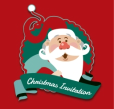 圣诞老人丝带 标签图片