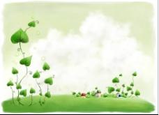 绿色可爱藤蔓图片