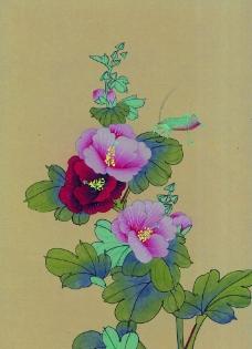 手绘国画花朵图片